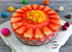 草莓酸奶慕斯蛋糕(电饭锅版)