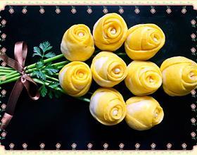 双色玫瑰花