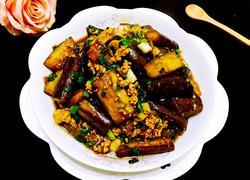葱香肉沫焖茄子(少油版)
