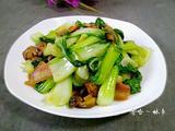 香菇炒小白菜的做法[图]