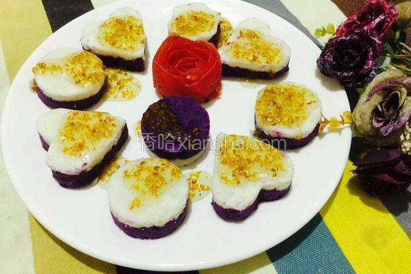 紫薯山药桂花糕