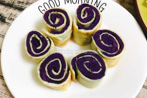 鸡蛋紫薯卷