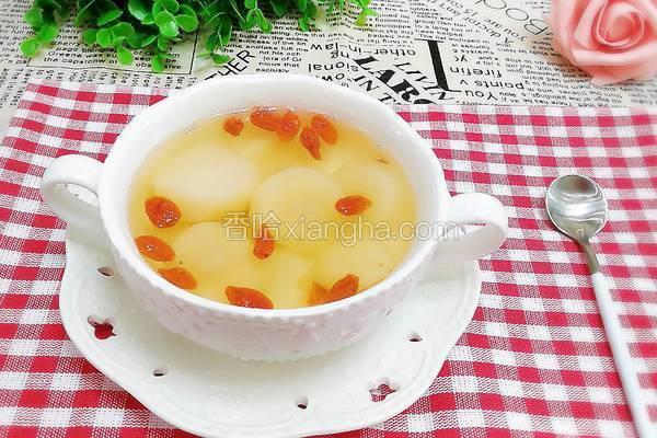 荸荠枸杞冰糖茶