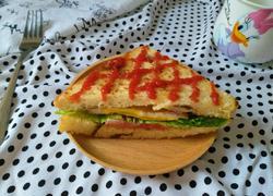 豆沙土司三明治