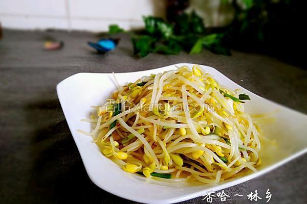 青蒜炒黄豆芽