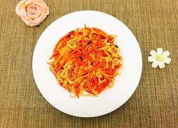 胡萝卜炒千张