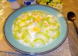 干贝咸蛋节瓜汤