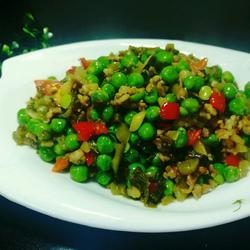 酸菜肉沫豌豆