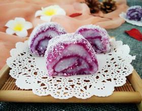 山药紫薯糍[图]