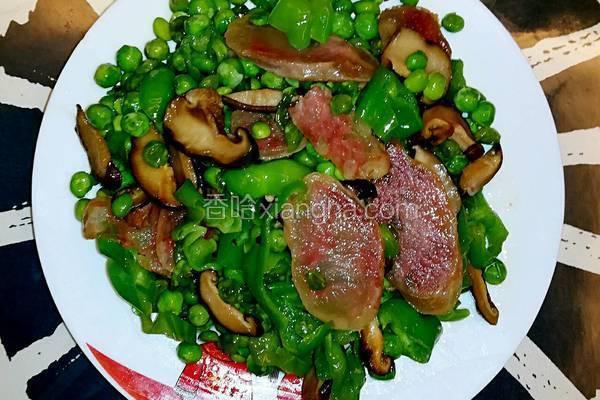 豌豆香菇炒腊肠