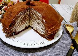 榛子奶油夹心巧克力千层蛋糕(6寸)
