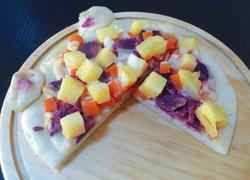 萌猫菠萝紫薯披萨