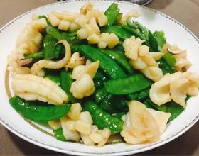 墨鱼炒荷兰豆