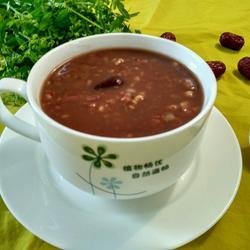 红枣红米红豆核桃粥