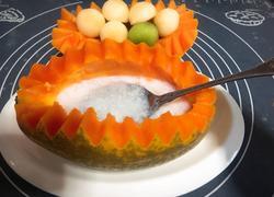 椰汁木瓜蒸燕窝