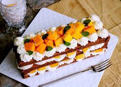 巧克力奶油芒果裸蛋糕