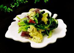 青菜洋葱炒鸡蛋