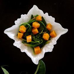 菠菜拌南瓜丁