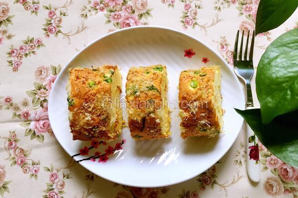 肉松葱花蛋糕卷