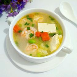 虾仁豆腐毛豆汤