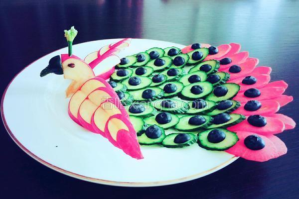 孔雀开屏水果蔬菜拼盘