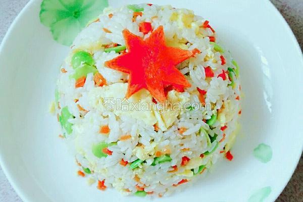 蚕豆米炒饭