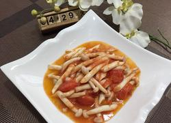 番茄炒海鲜菇