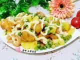 菠萝油条虾的做法[图]