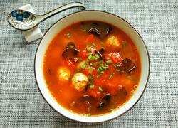 西红柿木耳肉丸汤