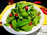 「Cathy边吃边营养」蒜蓉清炒荷兰豆的做法[图]