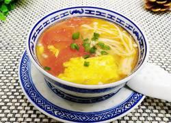 番茄金针鸡蛋汤