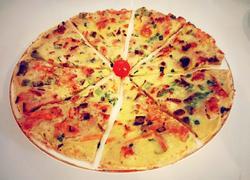 五餐肉虾仁尖椒饼