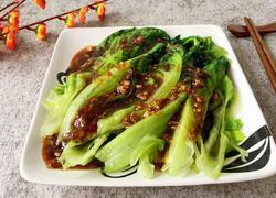 蒜蓉油淋生菜