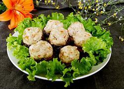 豆腐肉沫酿香菇
