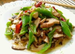 双椒炒香菇