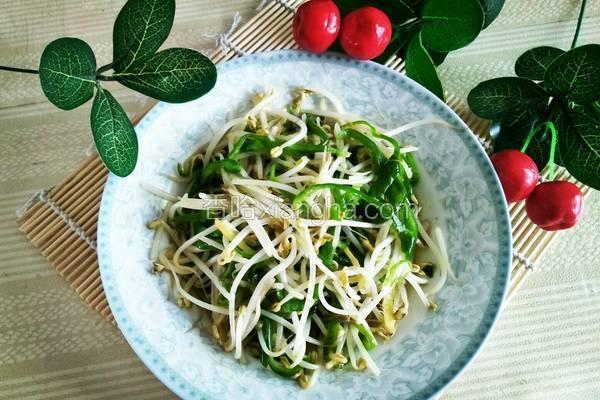 炒青椒绿豆芽