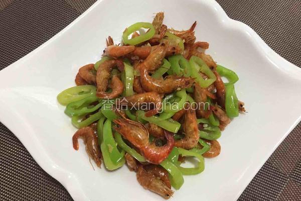 椒圈炒河虾