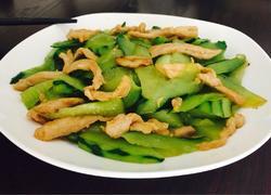 肉片炒青瓜