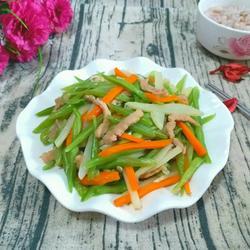 豆角土豆炒肉丝