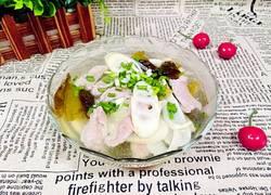 酸菜苦笋肉片汤