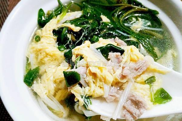 马兰头肉丝鸡蛋汤