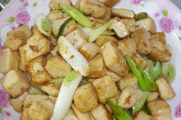 葱白炒豆腐