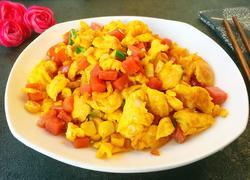 火腿玉米粒炒鸡蛋