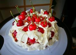 樱桃鲜奶蛋糕❤母亲节快乐