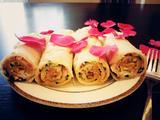 午餐肉蟹棒葱花煎饼的做法[图]