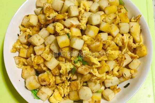 香葱鸡蛋炒馍花