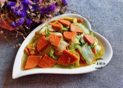 火腿肠炒芽白菜
