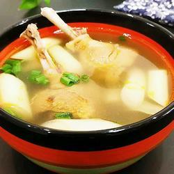 蒲菜飞鸭汤