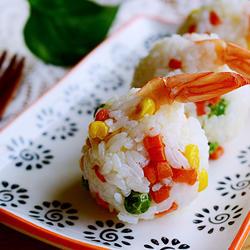 凤尾虾寿司饭团