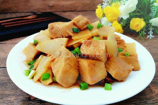 冻豆腐炒土豆片